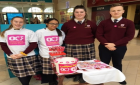 TY Students raising funds for Oesophageal Cancer